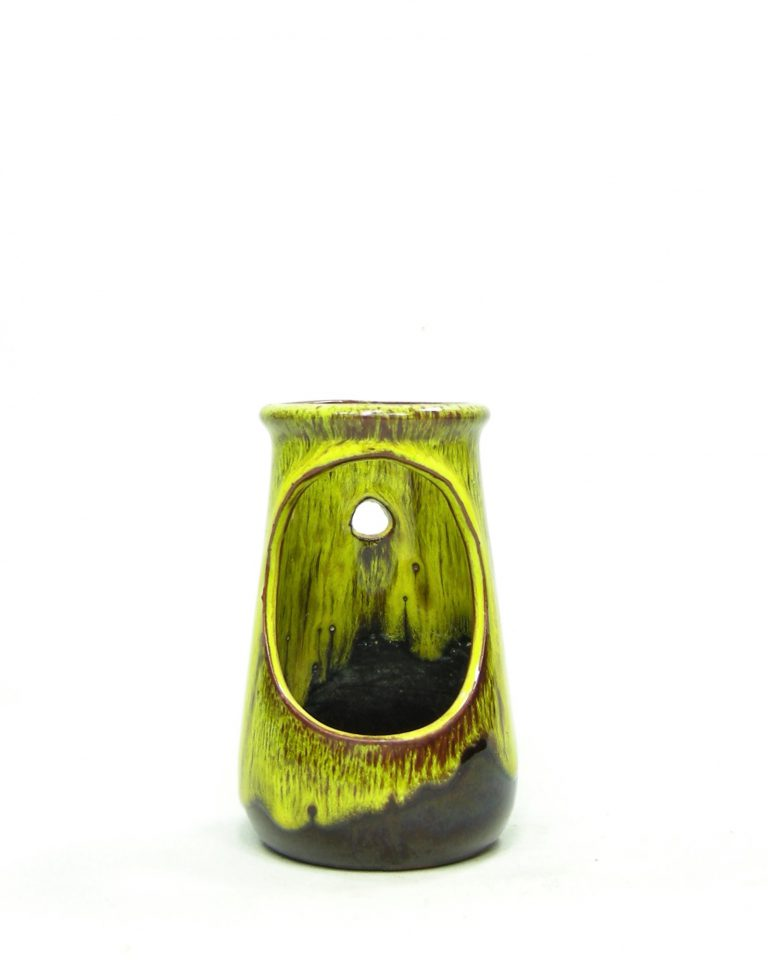 873 – wand kandelaar geel – bruin