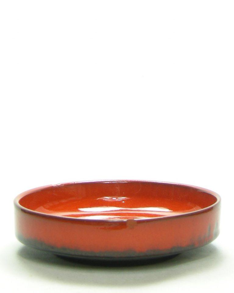 877 – pinda set, schaal met 4 schaaltjes en een schepje oranje – bruin