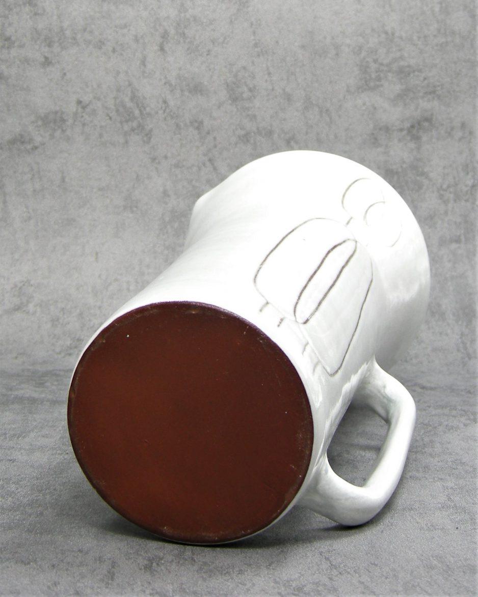 884 - pitcher met afbeelding grijs