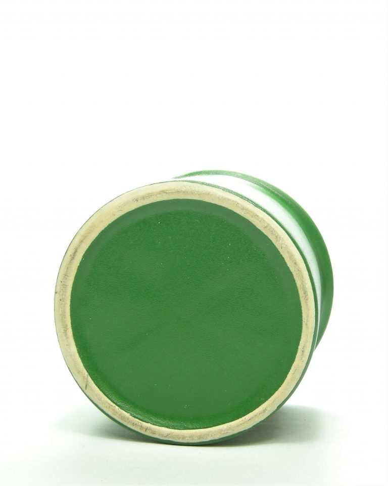 902 – bloempot met mat glazuur groen