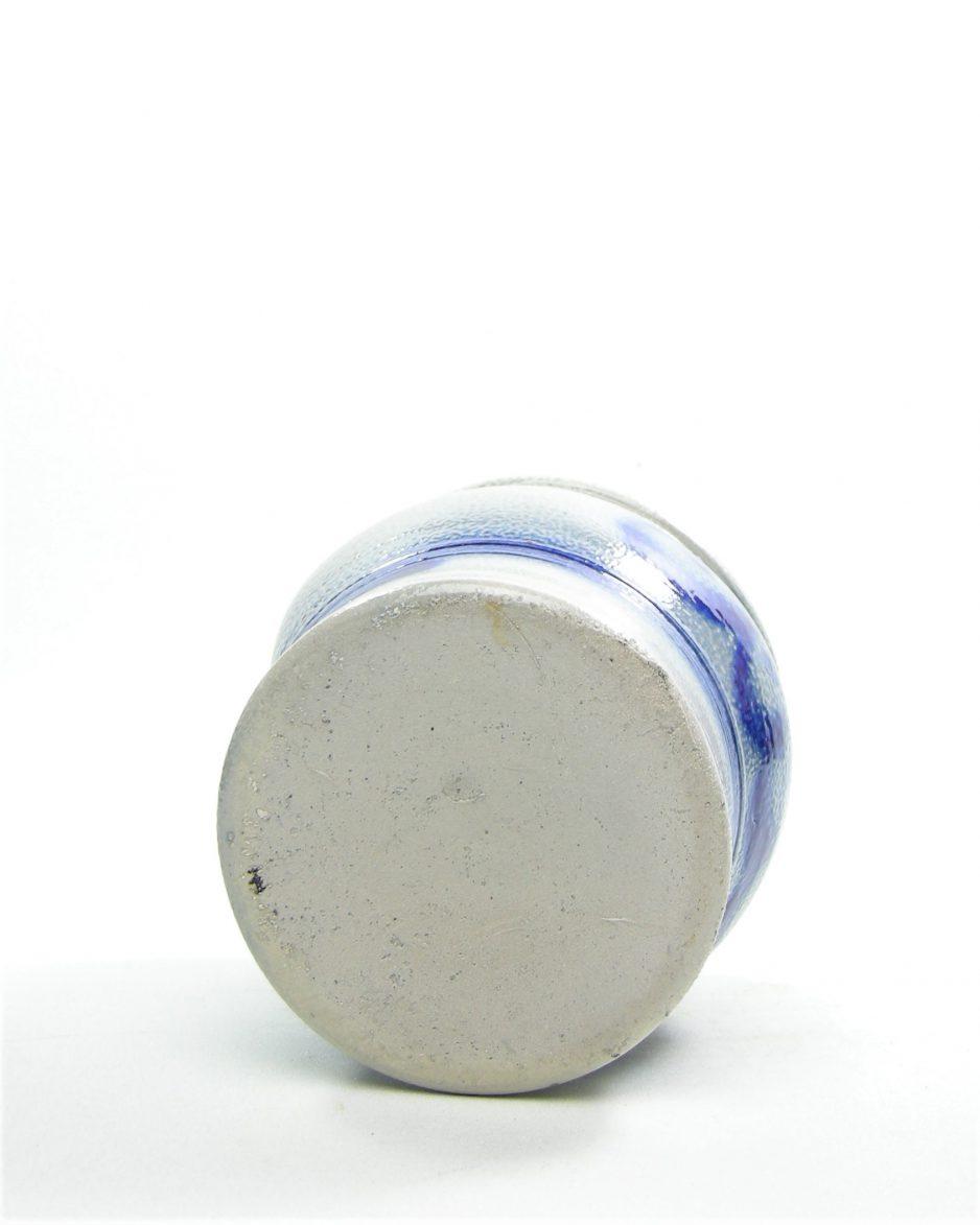 916 - wand zoutpot Keuls 1 L grijs - blauw