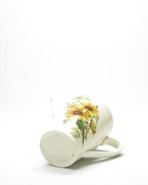 951 – pitcher '5' crème met bloemen
