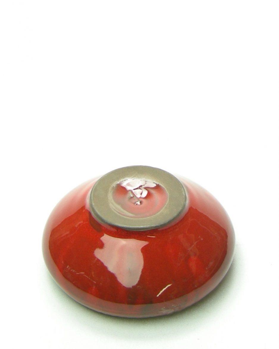 969 - schaaltje met rand motief rood