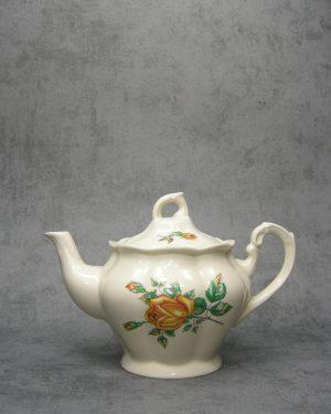 978 - theepot Chodziez Polland 4099 crème met rozen