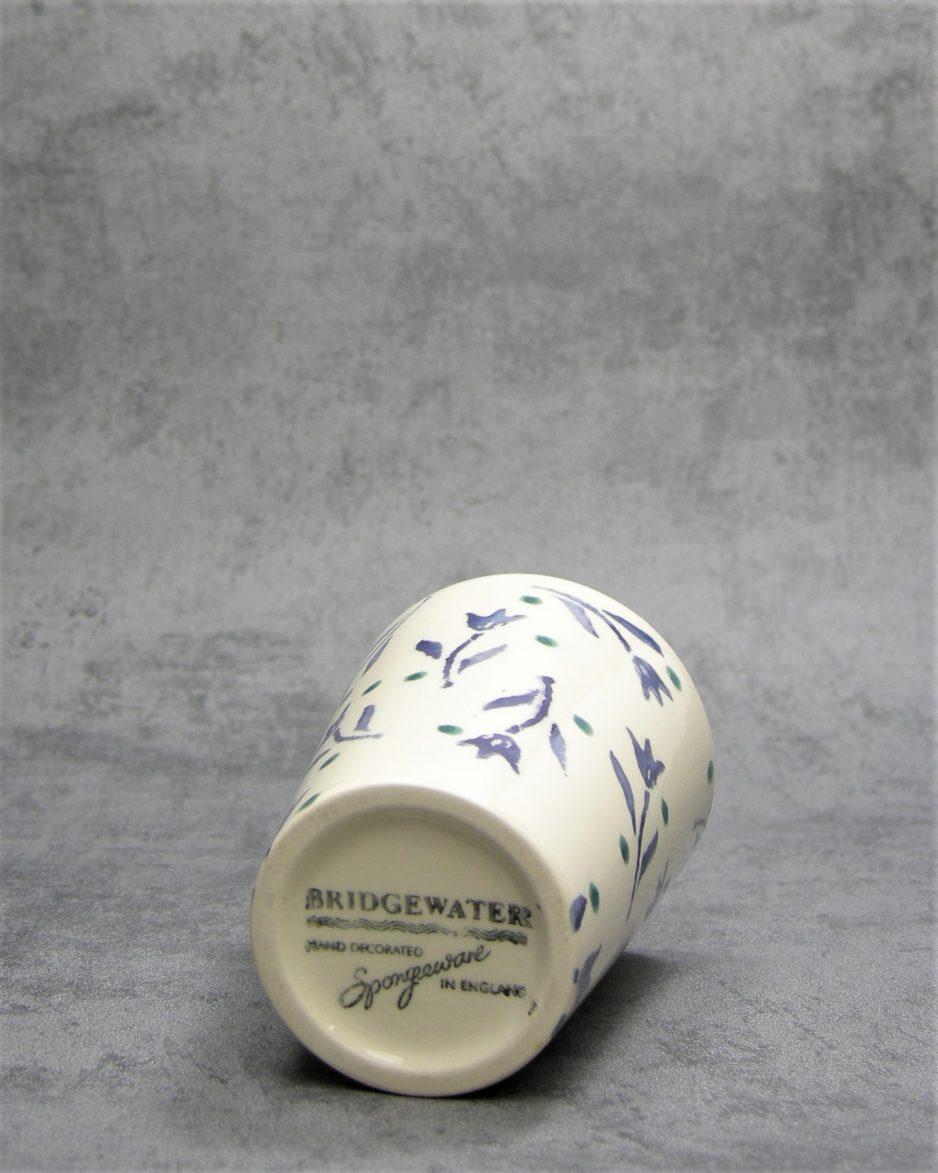 983 - beker Bridgewater Spongeware wit-blauw