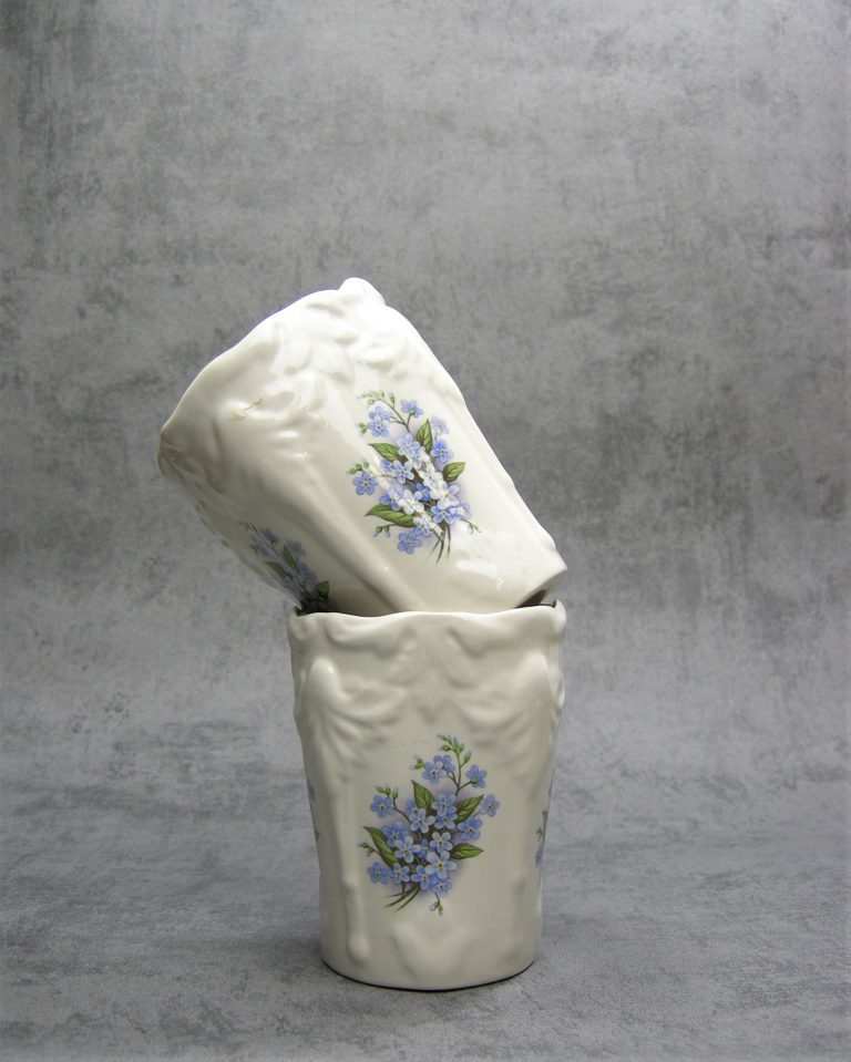986 – bekers Meander made in England wit – blauw – groen