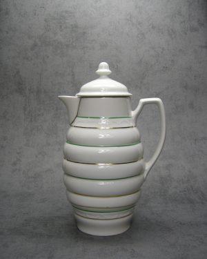 994 – melkkan met versieringen wit met groene en gouden lijnen