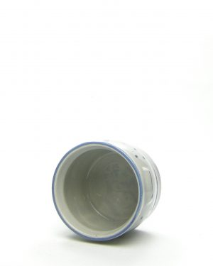 1012 – bloempot Leipzig 1 Keuls grijs – blauw