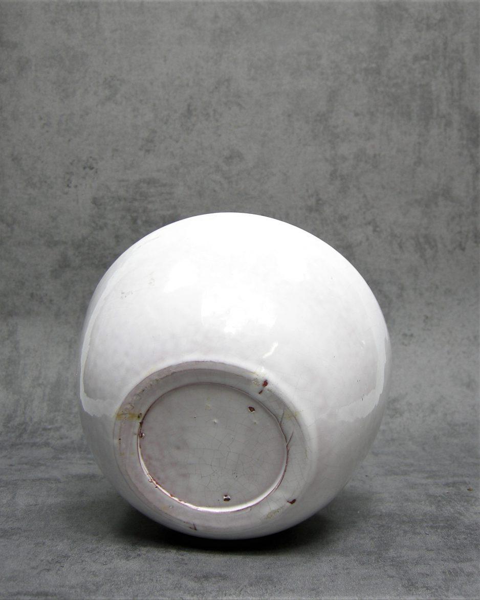 1023 - bloempot op stokjes gebakken wit