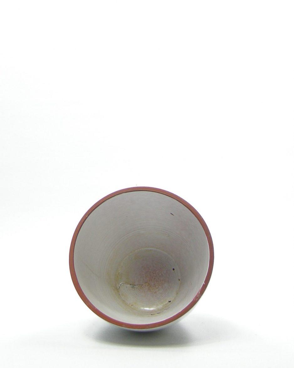 1031 - bloempotje 115 A op stokjes gebakken wit