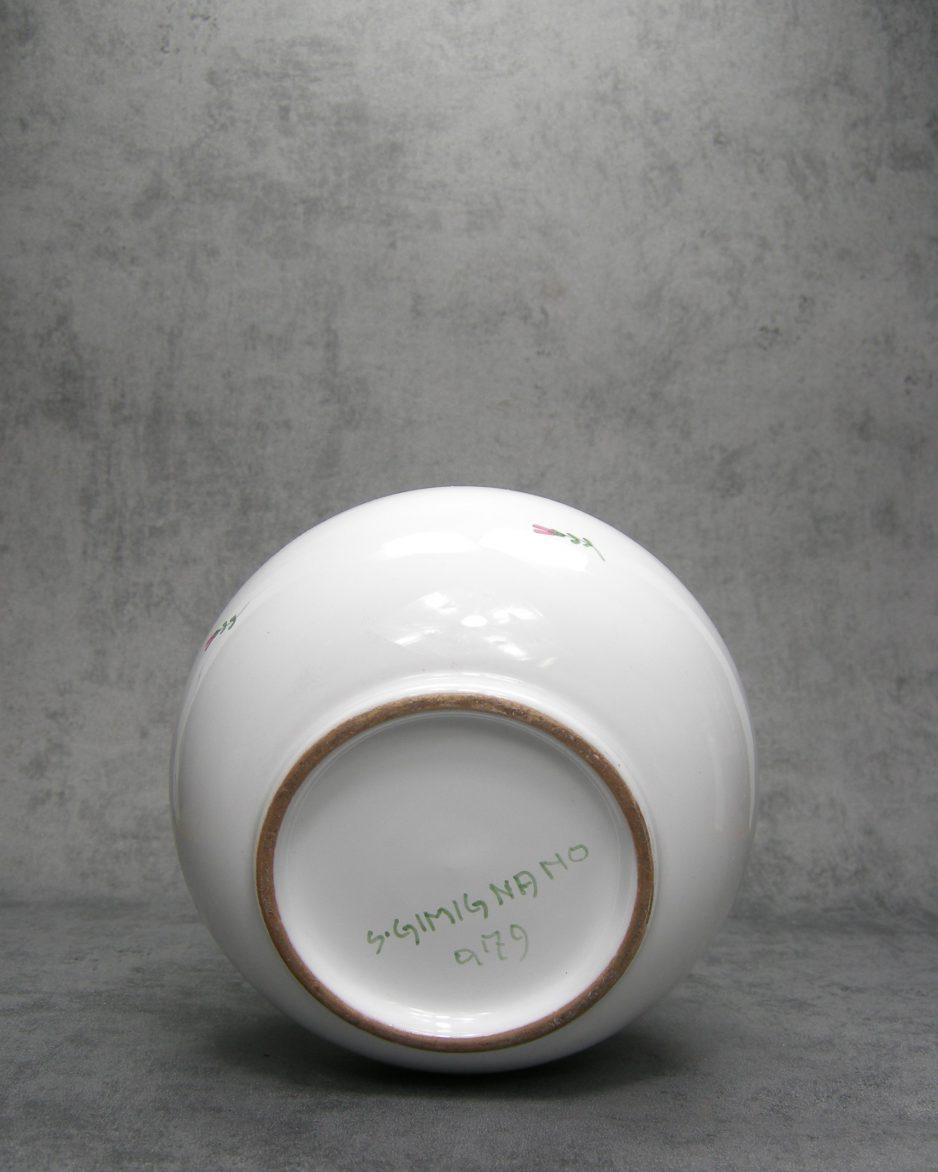 1042 - bol vaas S. Gimignano 9179 wit