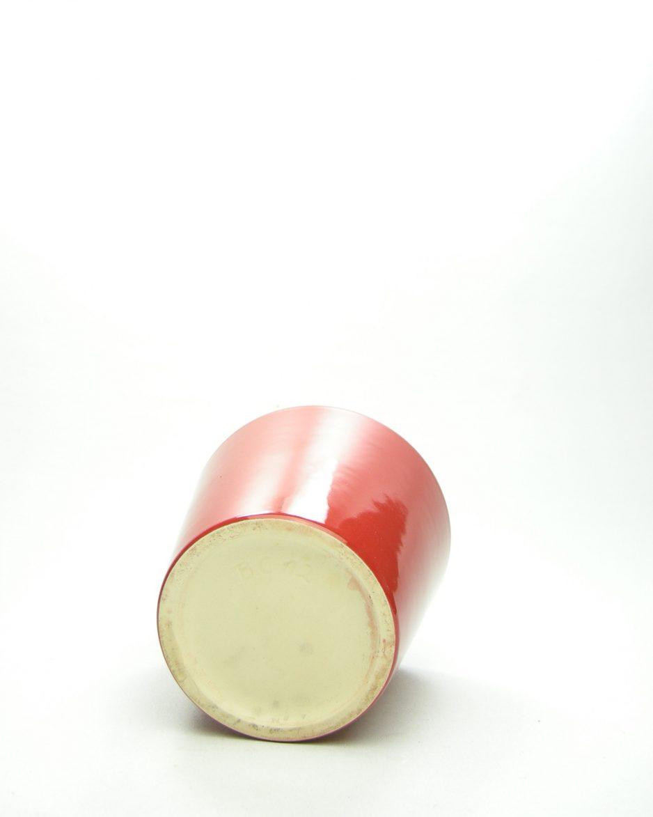 1047 - bloempot BC12 rood