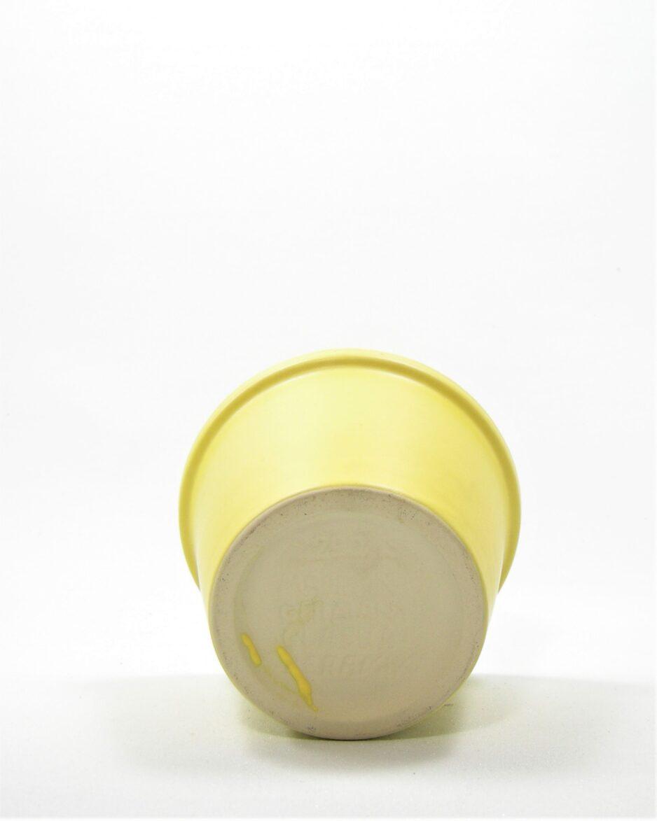 1053 - bloempot Glasur keramik 2290/13 geel
