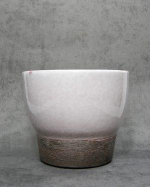 1058 - bloempot ADCO 224 wit - grijs - bruin