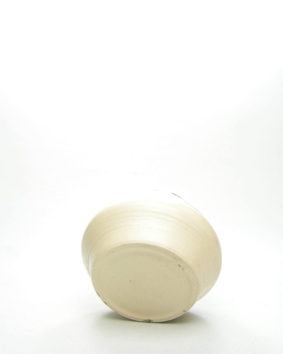 1059 - bloempot met tekeningen crème - groen - geel
