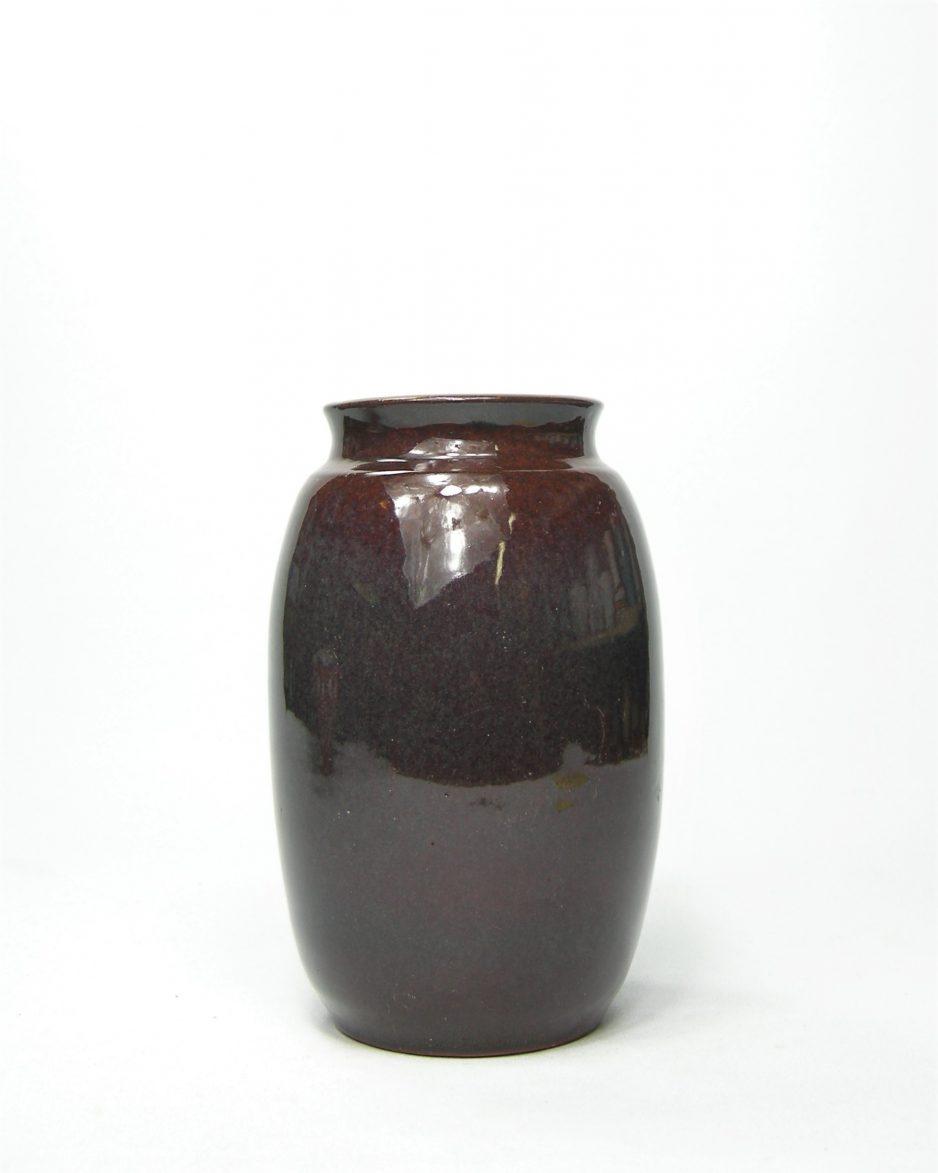 1065 - vaas met duo kleur bruin - grijs