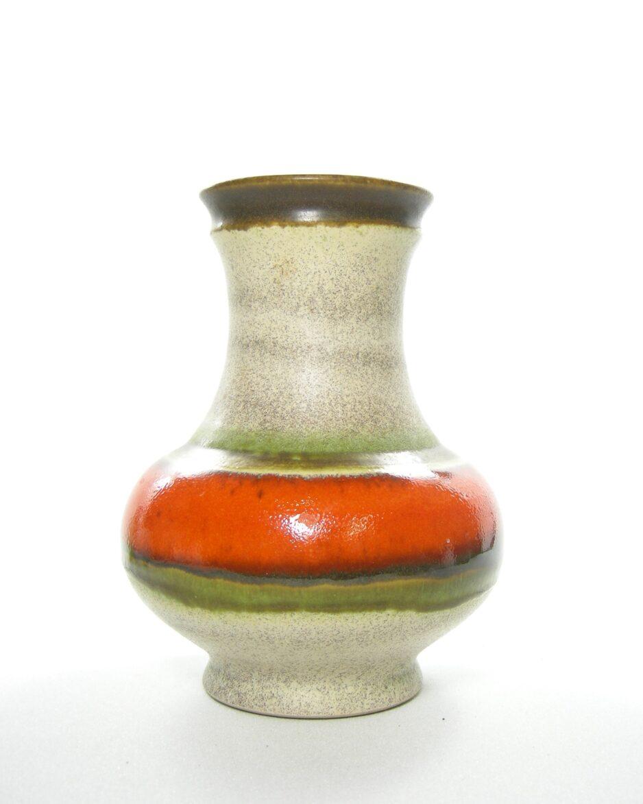 1070 - vaas U Keramik 258/18 beige - bruin - oranje - groen