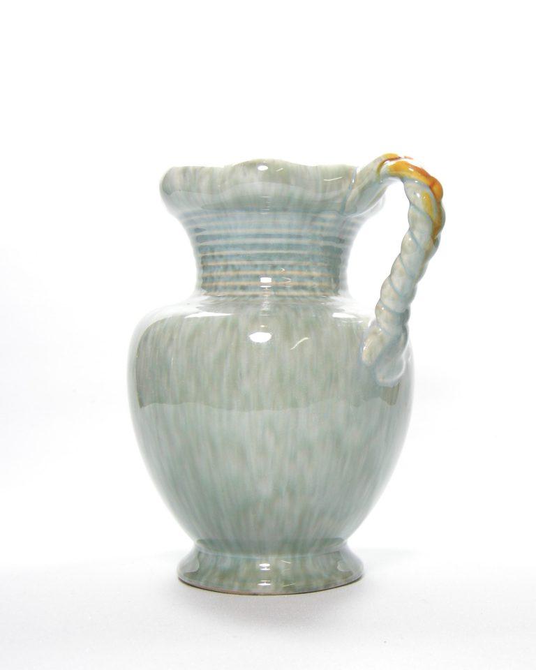 1074 – vaas Jasba 547  jaren 60-70  blauw – oranje – geel