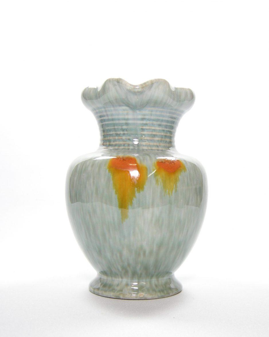 1074 - vaas Jasba 547 jaren 60-70 blauw - oranje - geel