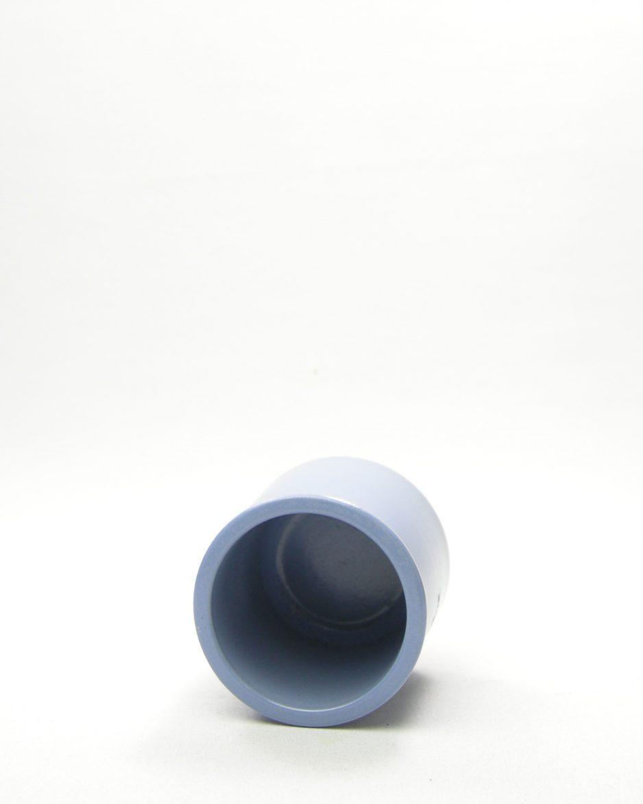 1077 - bloempotje La Fermiere lila-blauw