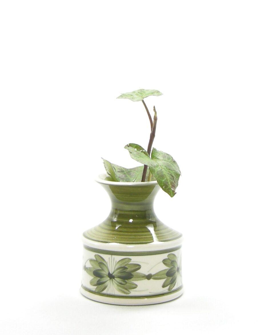 1086 - vaasje Jersey Pottery groen - wit