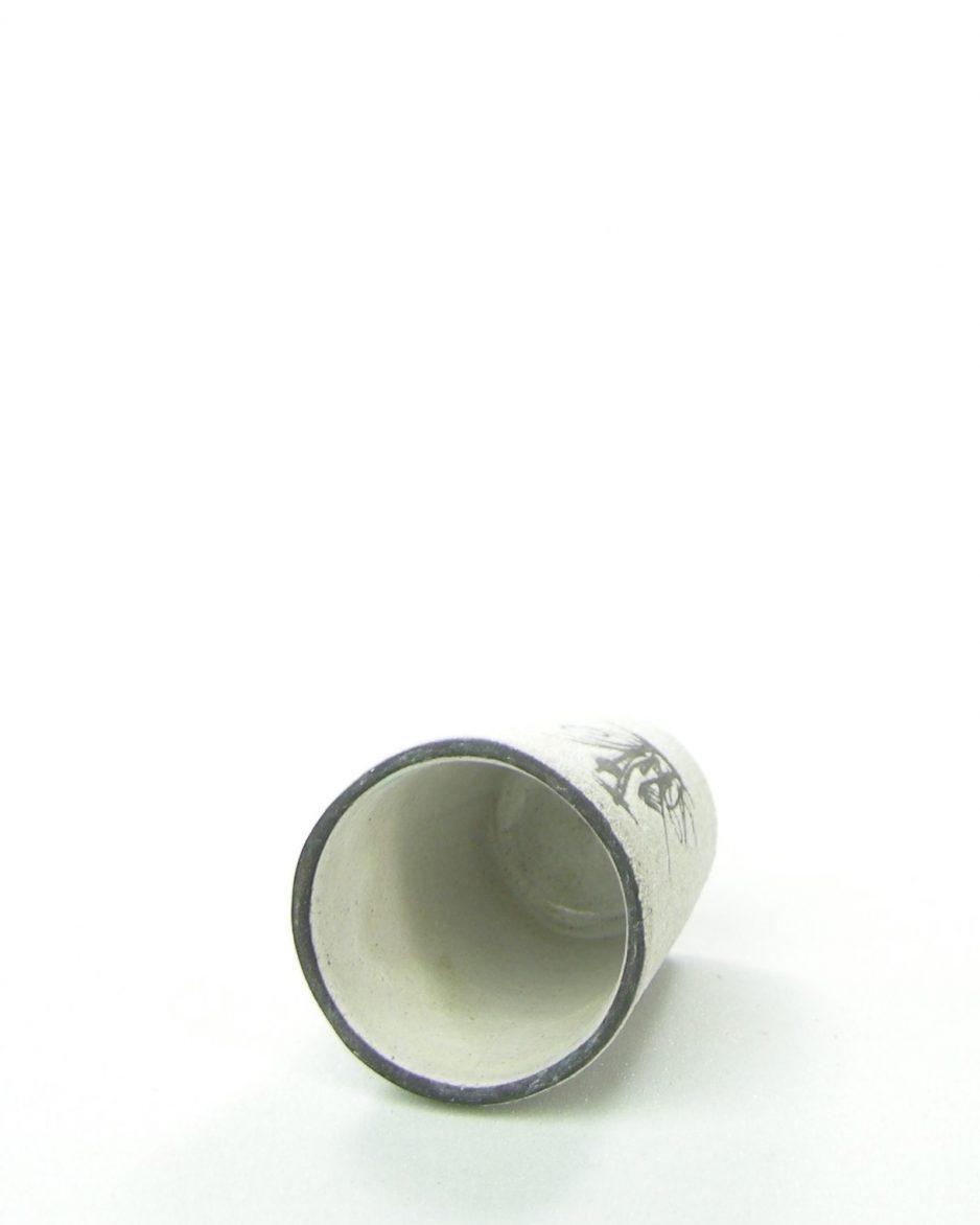 1092 - bloempotje - vaasje met afbeelding wit