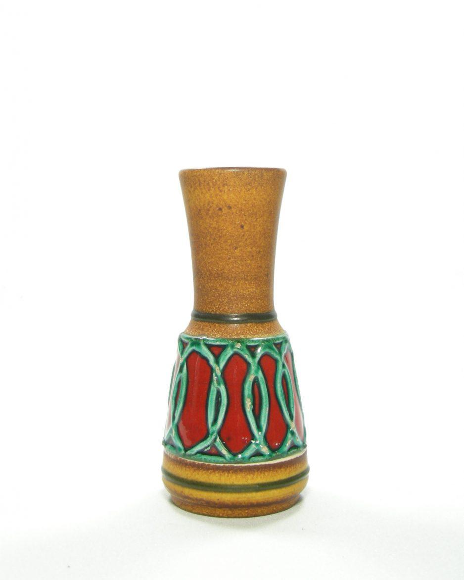 1100 - vaas Eckhardt & Engler bruin - groen - rood