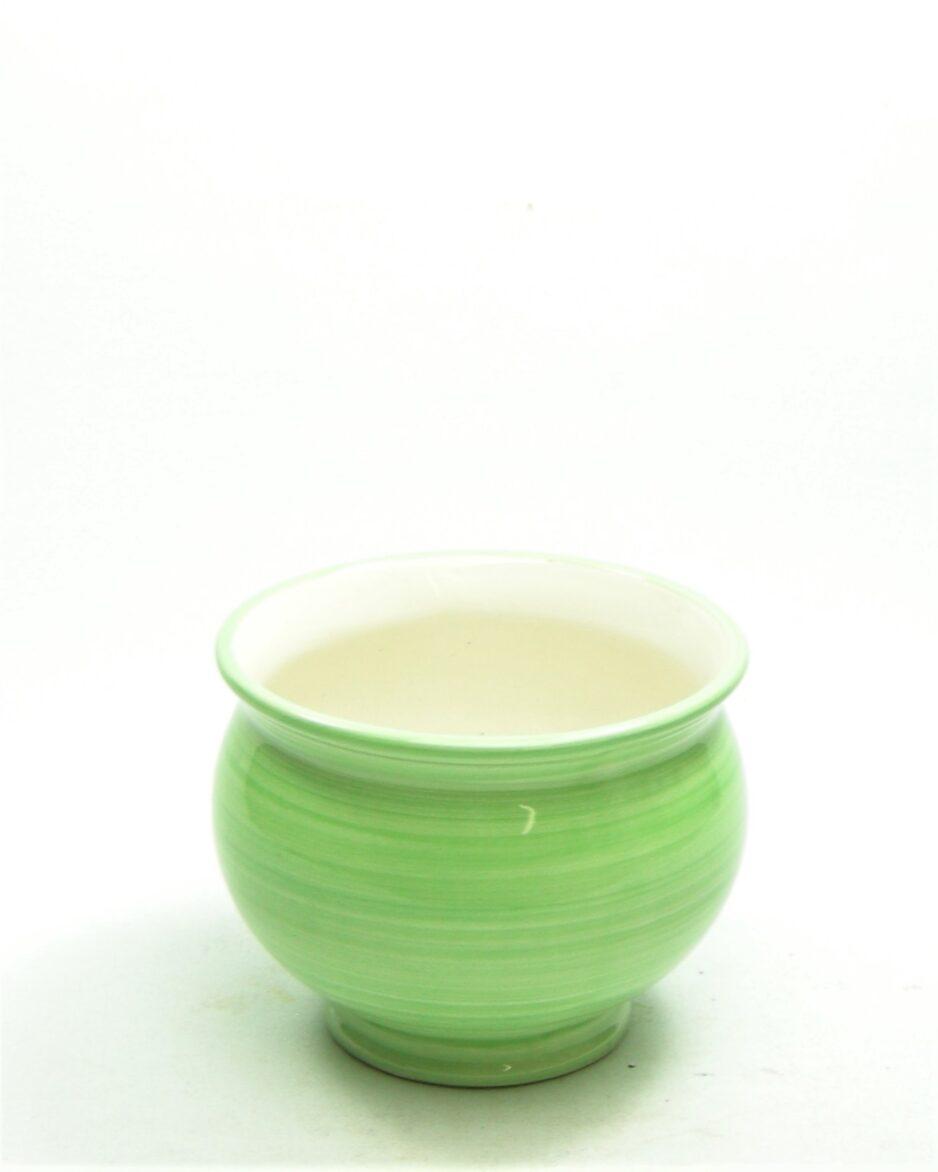 1106 - bloempot Alcobaca ceramic Portugal groen