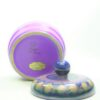 1108 - schaal met deksel Flora Holland 962 lila - blauw - groen - geel