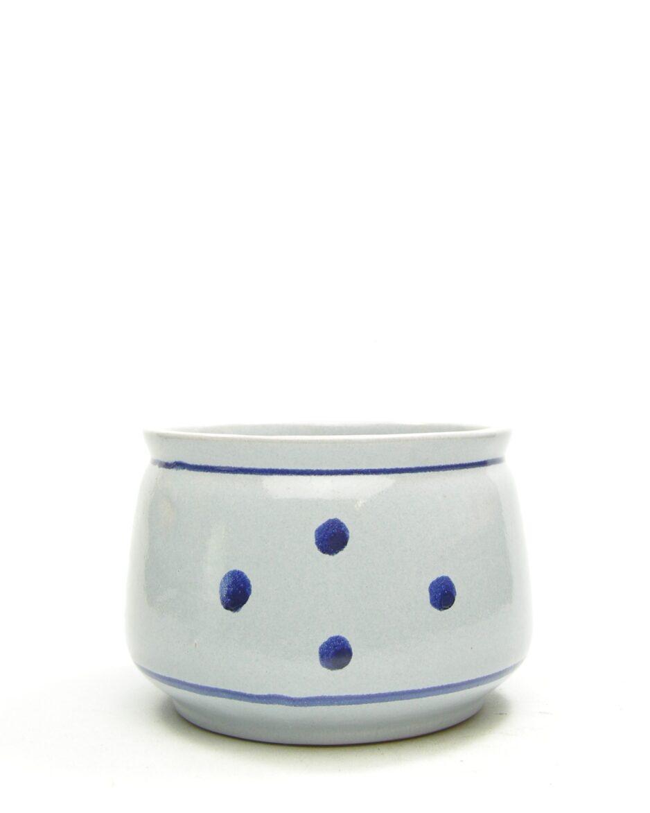 1114 - bloempot VEB Grafrode 625-10 jaren 60 blauw