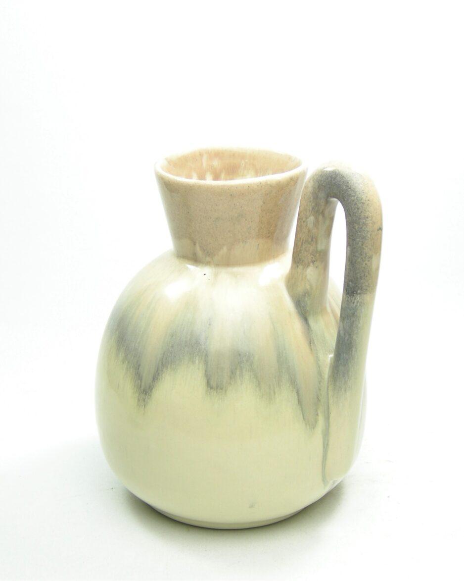 1120 - vaas Aardewerkfabriek Katwijk beige - grijs - crème