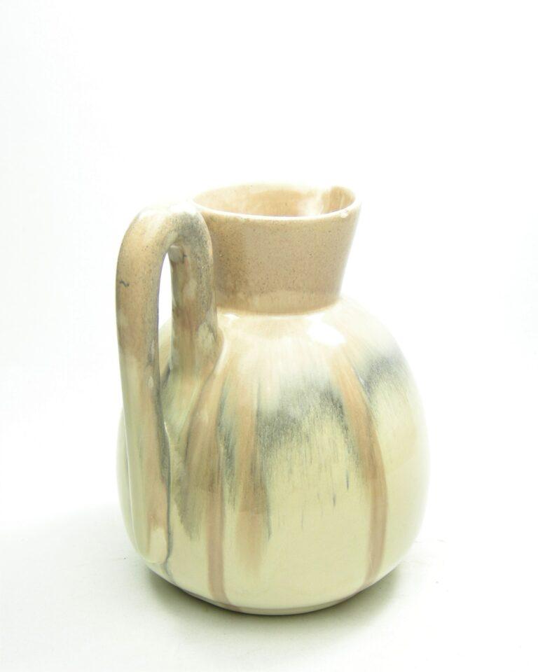 1120 – vaas Aardewerkfabriek Katwijk beige – grijs – crème