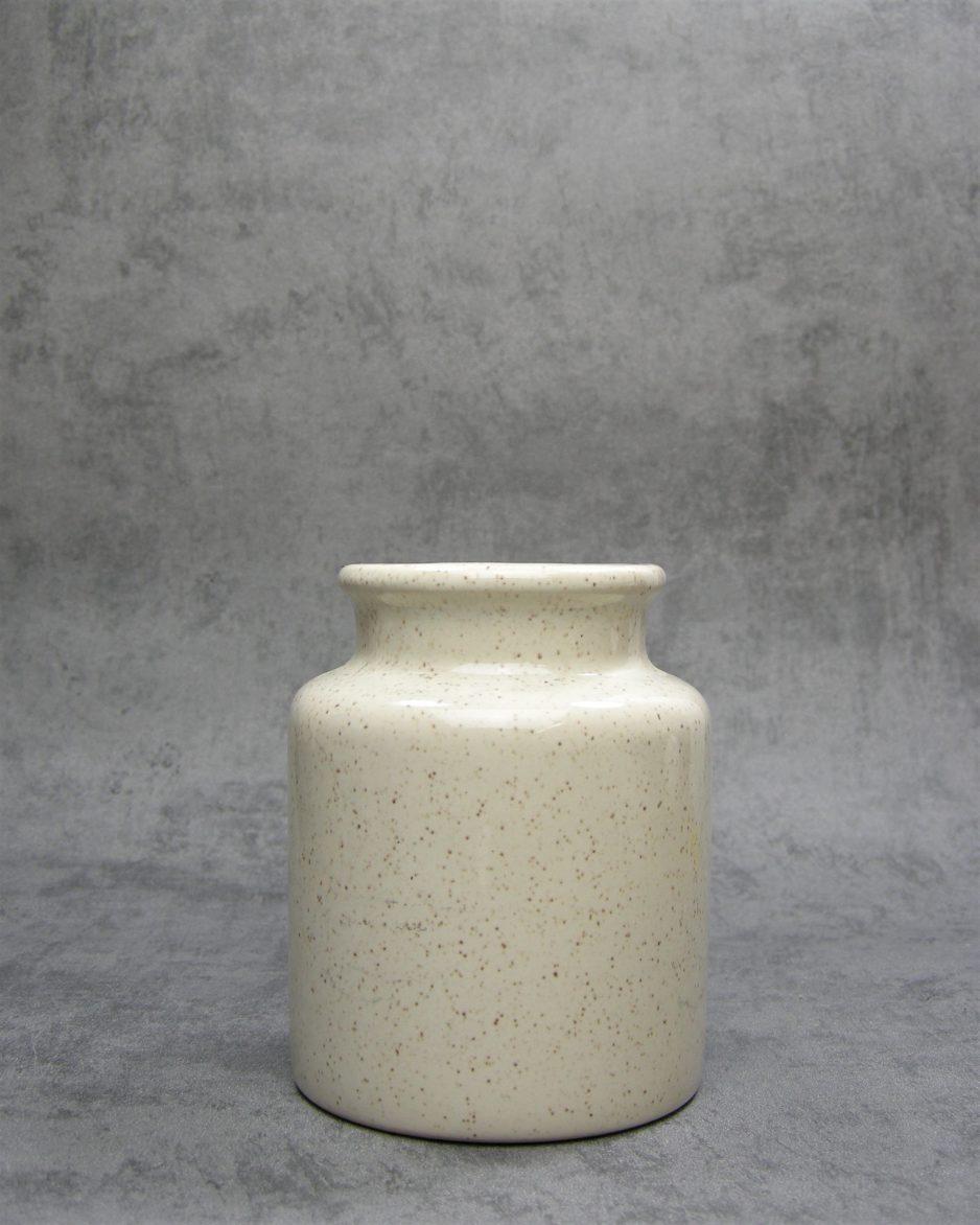1139 - vaasje spikkels bruin - beige
