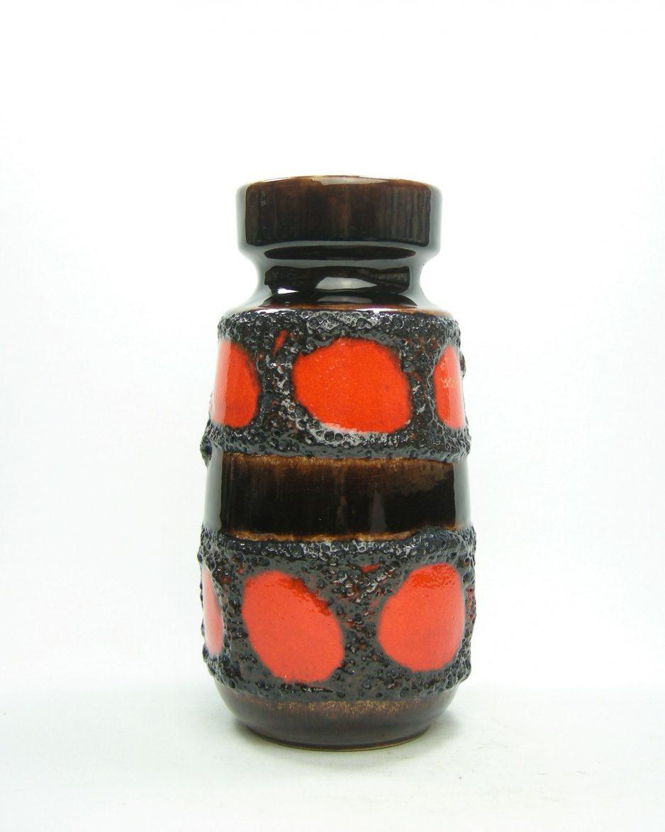 1151 - vaas Scheurich 242-22 oranje - zwart - bruin