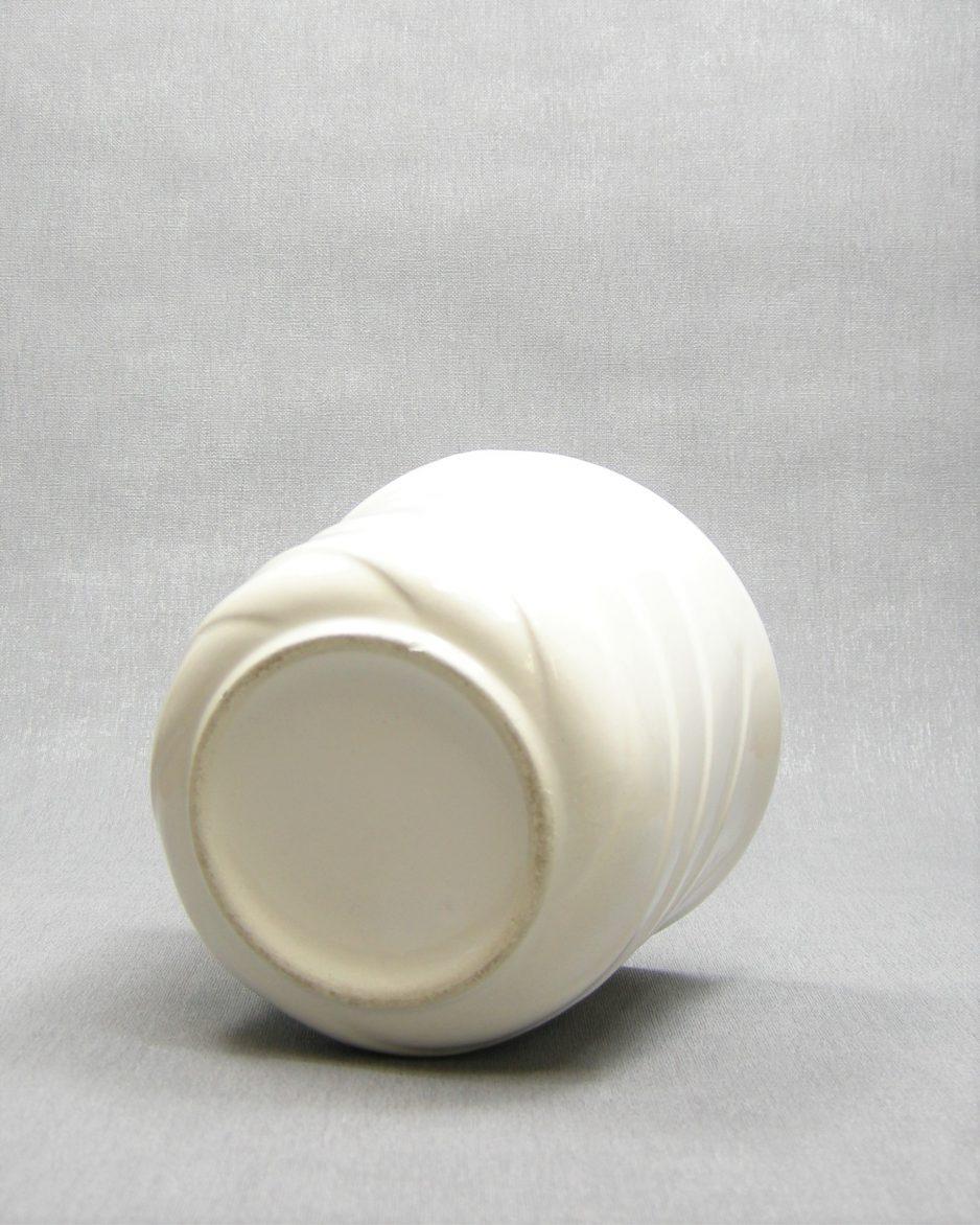1152 - bloempot met spiraal motief wit