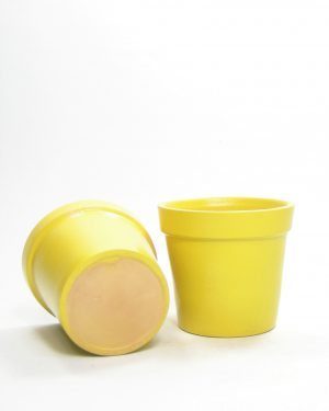 1165 – bloempotje met verdikte rand geel