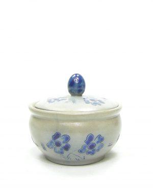 1171 - suikerpotje Keuls aardewerk grijs - blauw