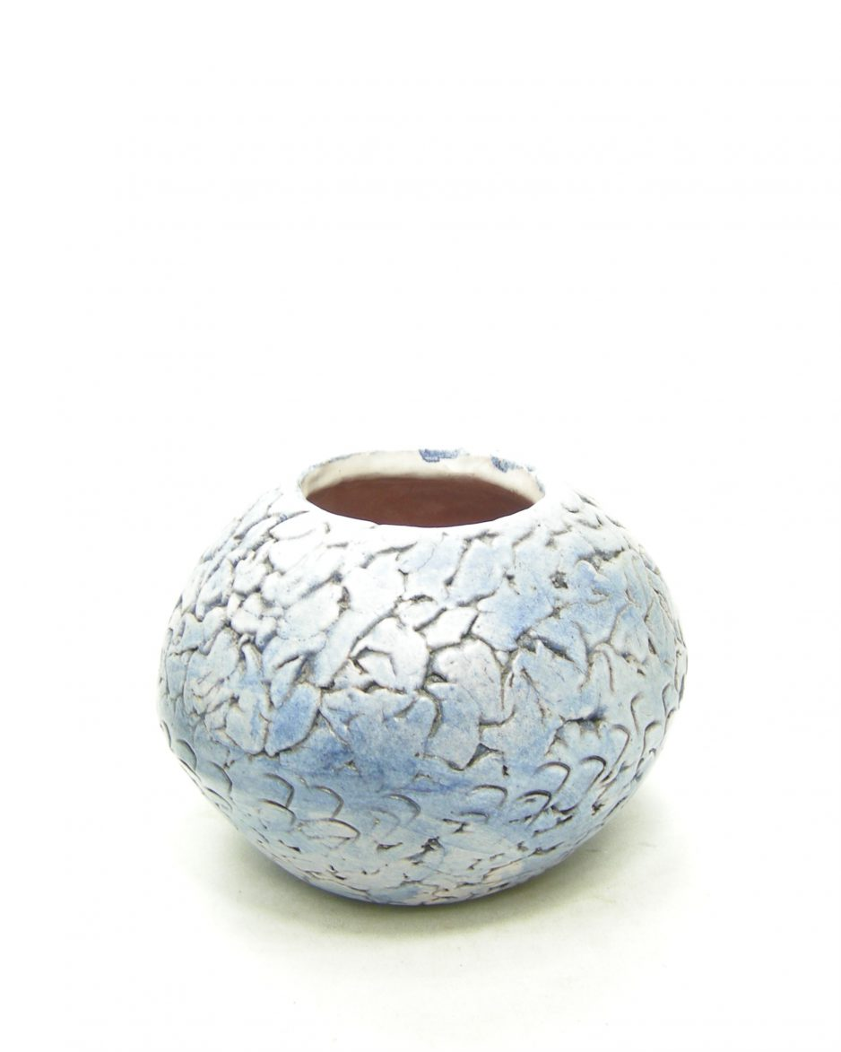 1174 - vaas met verloop kleuren blauw - wit