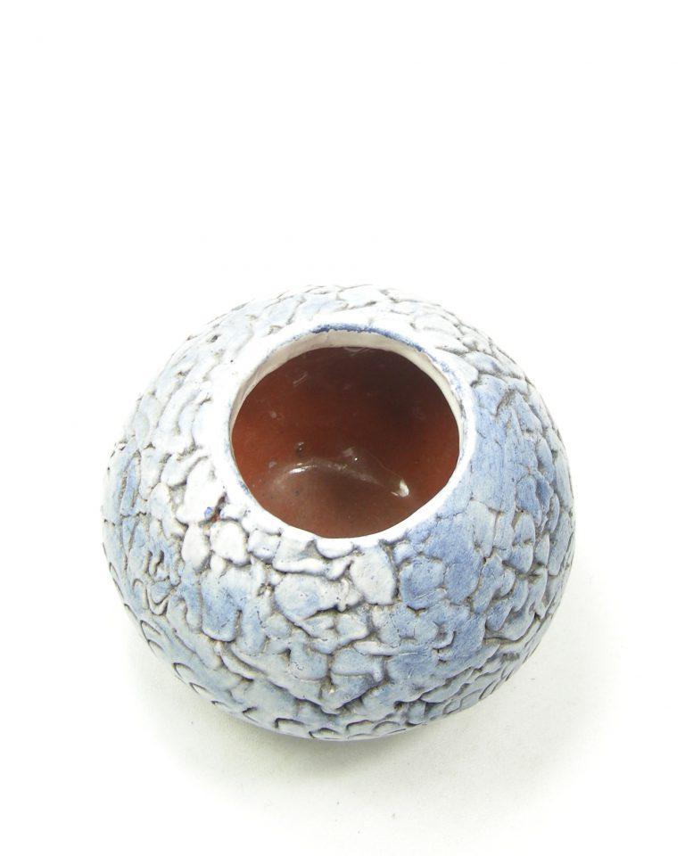 1174 – vaas met verloop kleuren blauw – wit