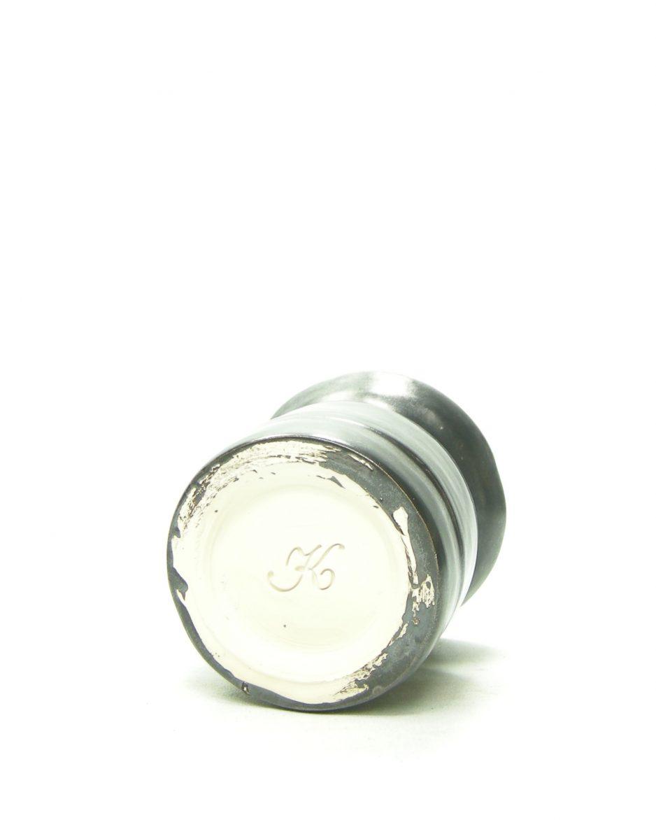 1187 - bloempotje - vaasje 'K' zwart