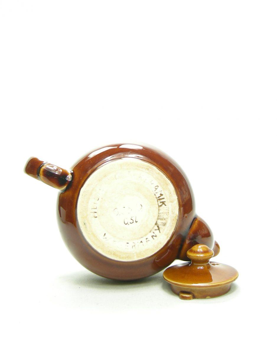 1194 - theepot Heisterholz keramik 0,5L bruin