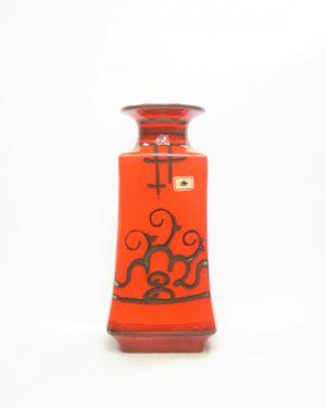 1198 - vaas Flora Gouda Holland Tokio 904 oranje - zwart