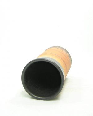 1202 – vaas Gres Pottery gestreept bruin