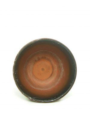 1209 – bloempot berkenbast op voet bruin – zwart