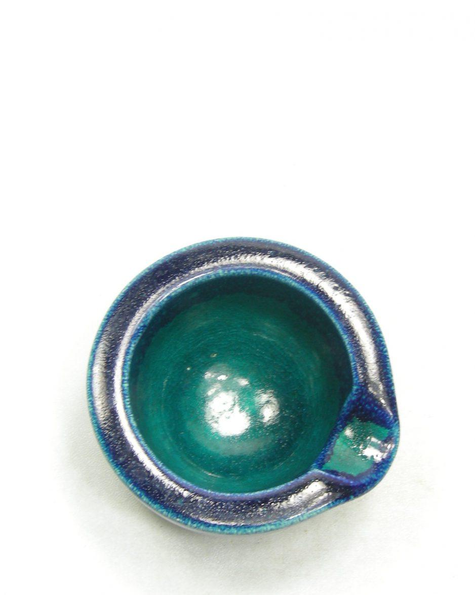 1219 - asbak Ravelli 221 groen - blauw