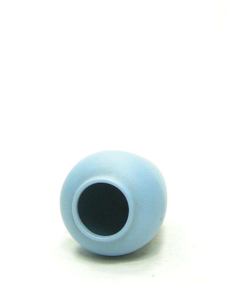 1220 - vaasje Ecanada Art Pottery Canada blauw - wit