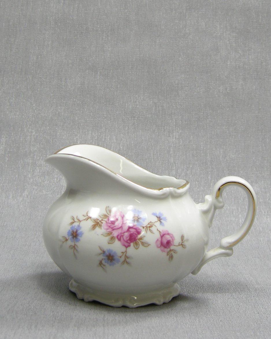 1230 - kannetje Bavaria Valeram 020 wit met bloemen