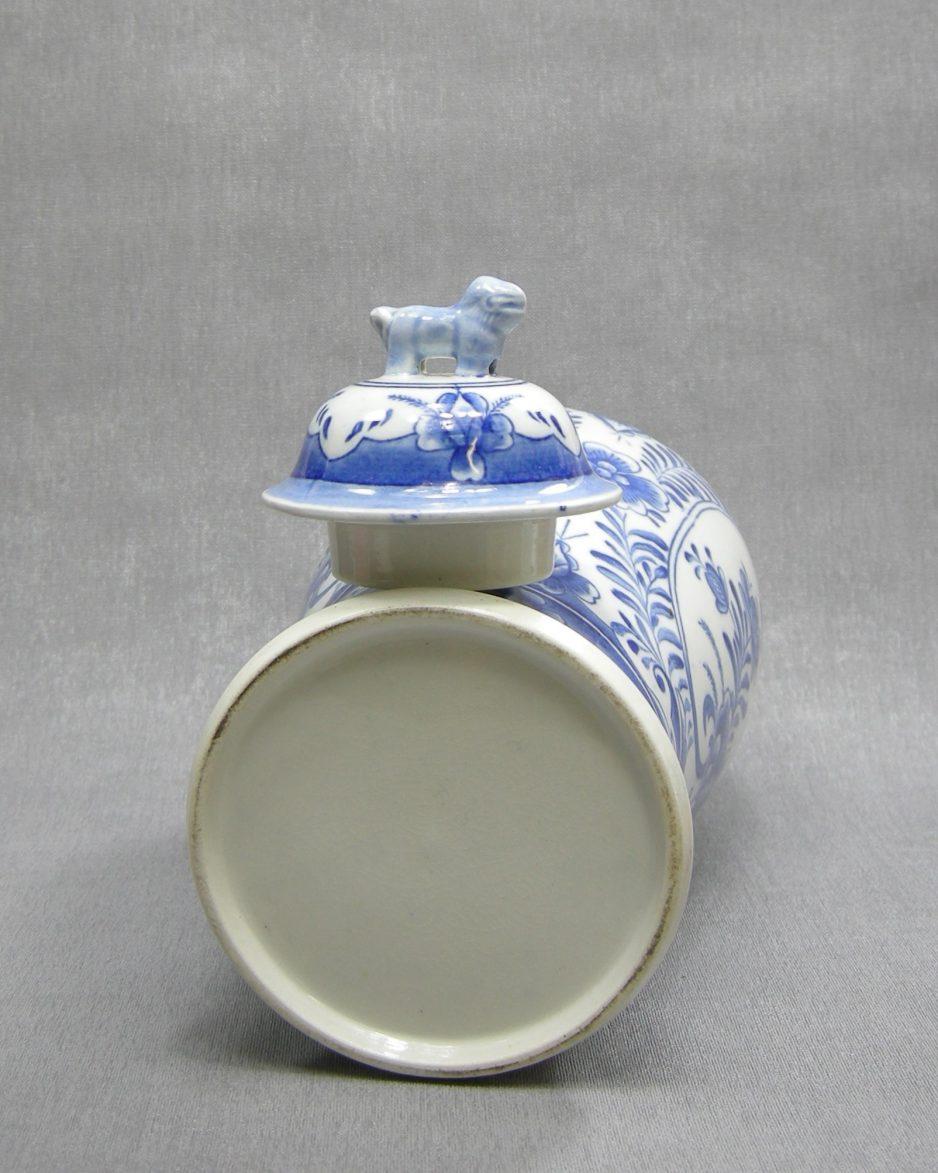 1231 - Pot met deksel Delfts motief wit - blauw