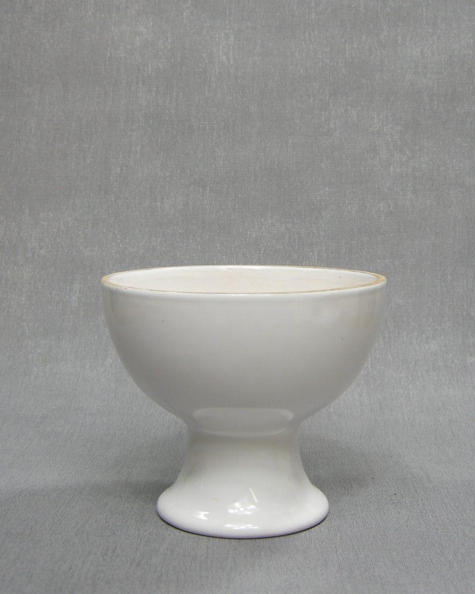 1244 - bloempotje op voet wit