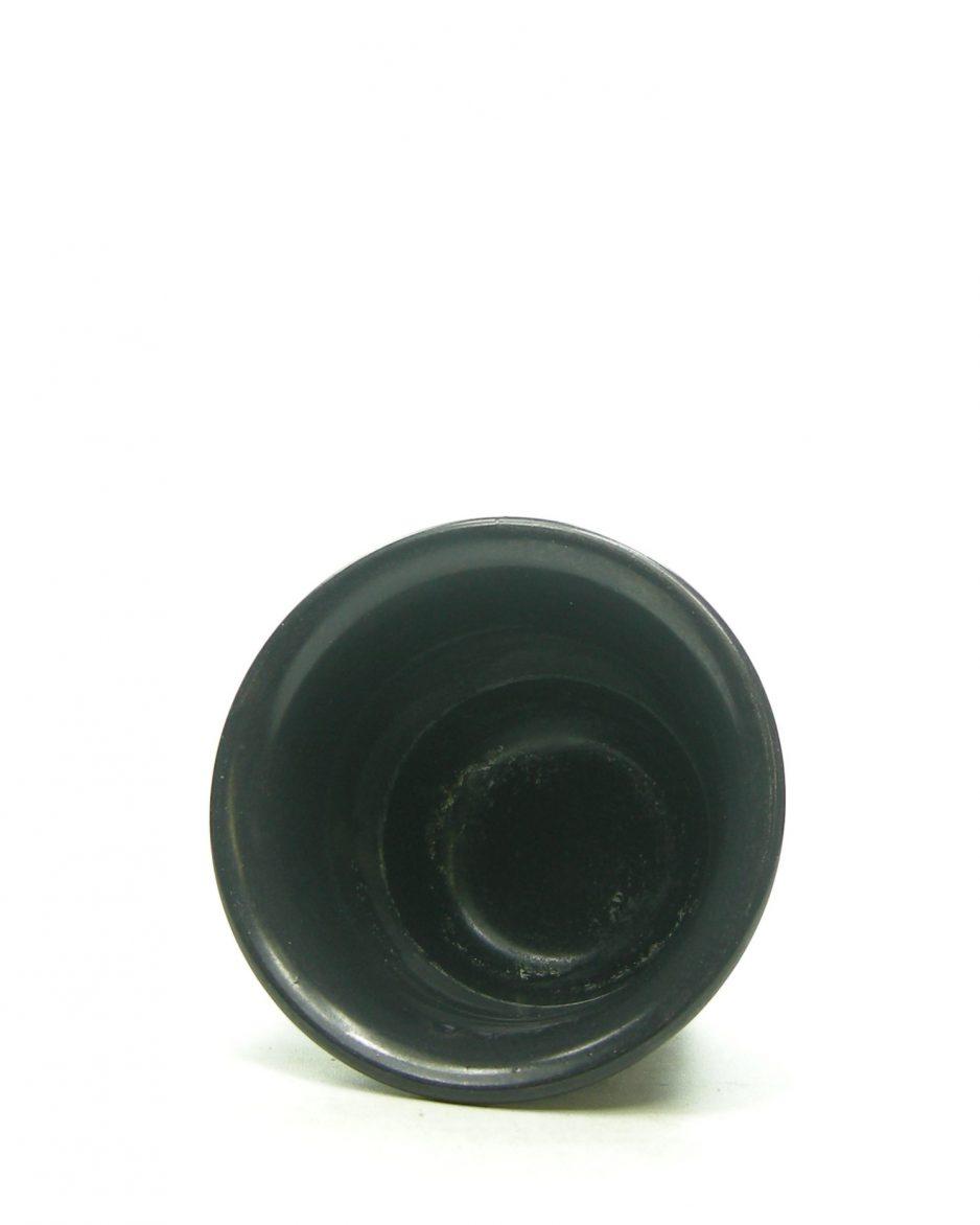 1248 - bloempot op stokjes gebakken mat zwart